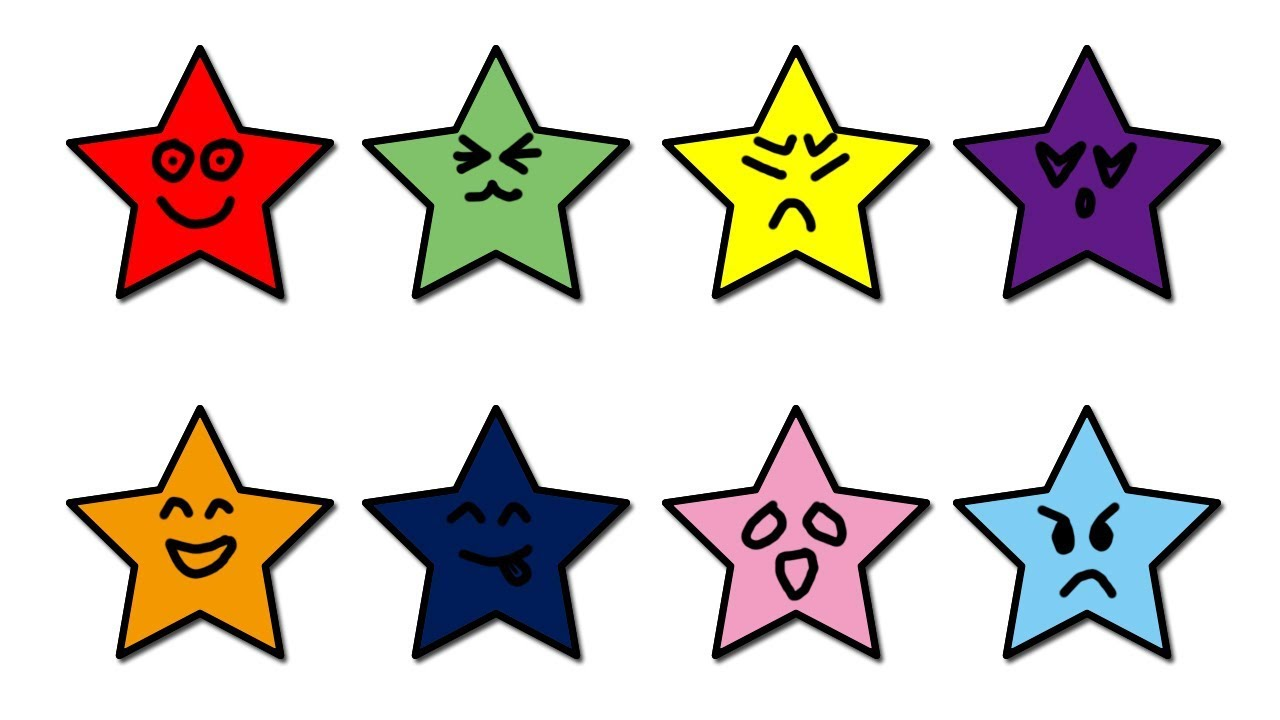 Learn colors with stars colour for children star coloring pages