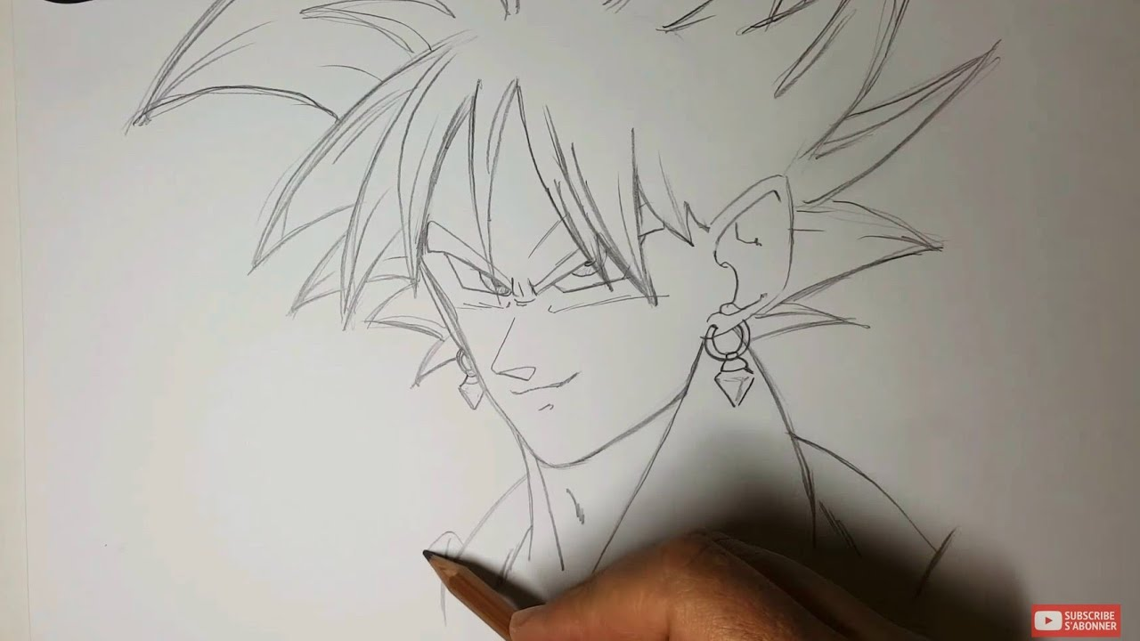 Dessin d 39 un personnage manga dragon ball z youtube - Dessin un dragon ...
