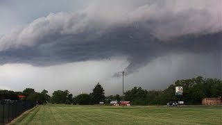 Joliet,IL Tornado WARNING Sirens Activated-Impressive Ominous Storm Clouds