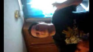 Bandit swallows a goldfish