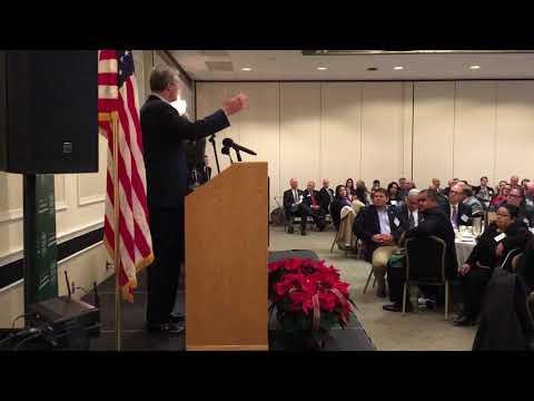 Massachusetts Governor Charlie Baker speaks in Brockton