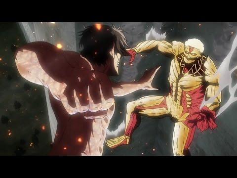 Attack On Titan Season 2  [AMV]  - Monster Of My Own (Eren VS Reiner Armored Titan )