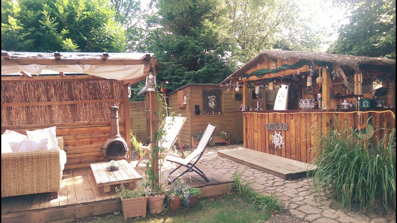Custom Homemade Tiki Bar In The Uk Made From Wooden Pallets