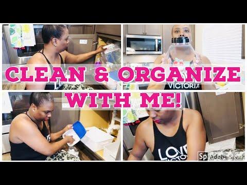 CLEAN & ORGANIZE WITH ME 2019 |UNDER KITCHEN CABINET SINK| Toneka Kneeland