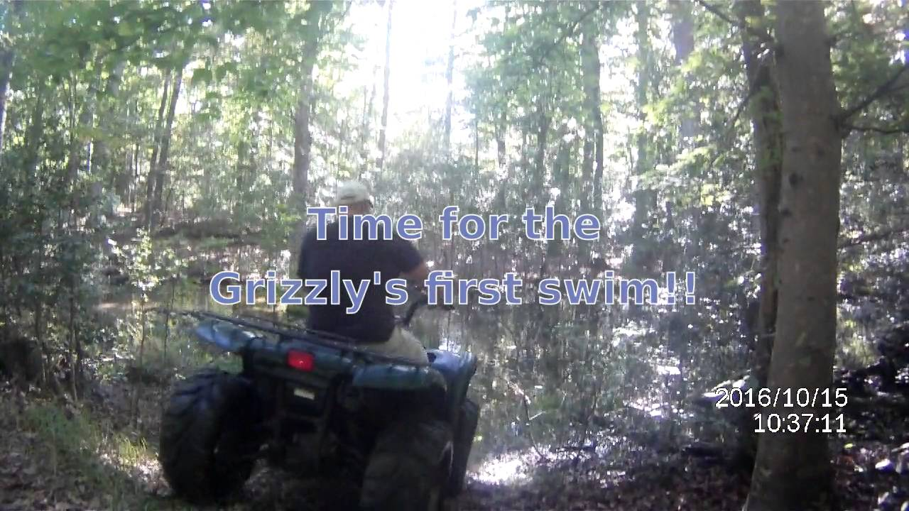 medium resolution of 2002 yamaha grizzly 660 and 2011 kawasaki brute force 650 sra riding trails part 1