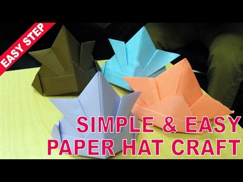 Quick and Easy Trick For Your How to make a Paper Hat with simple and easy folds