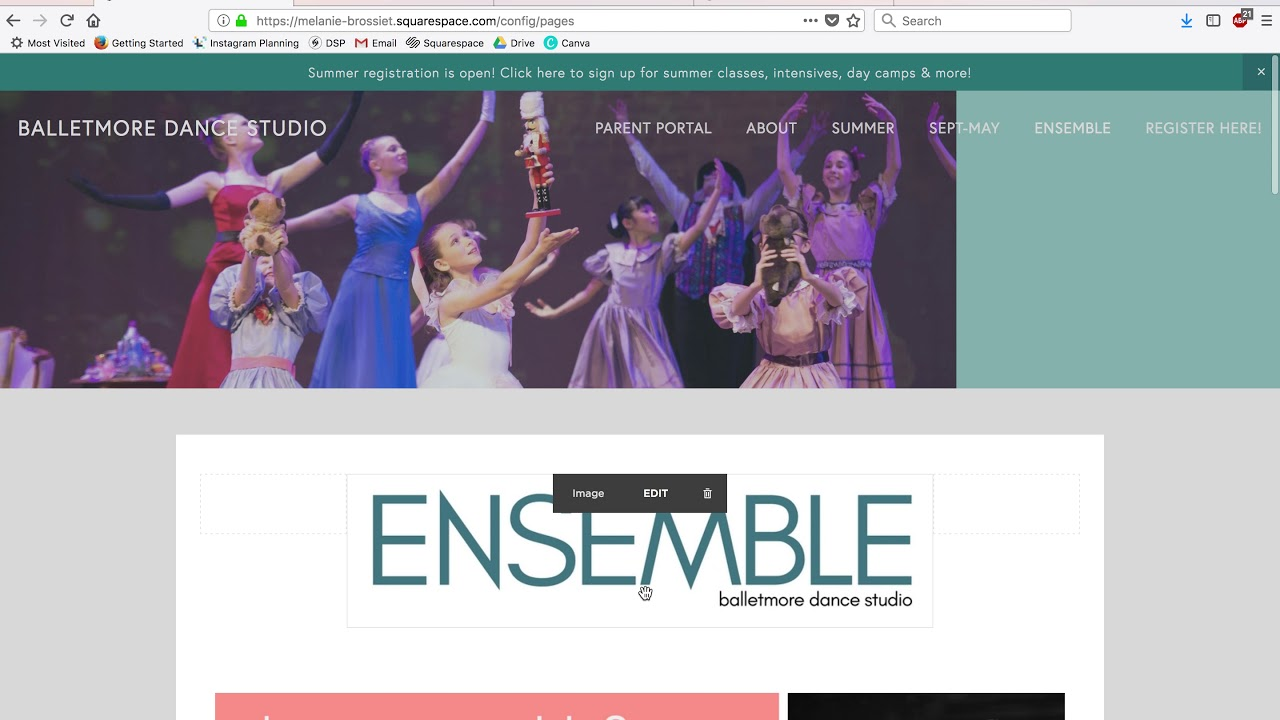 Website — balletmore dance studio