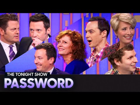 See a Game of Password with Hugh Jackman, Nick Offerman, Emma Thompson and More!!