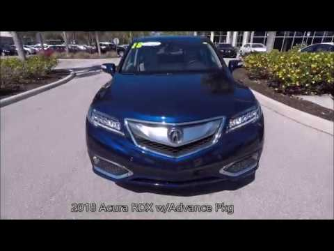 Used Acura RDX WAdvance Pkg Near Fort Myers And Fort Myers - Used 2018 acura tl