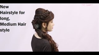 Easy hairstyle for long hair New Hairstyle for long medium hair Beautiful Bridal Hair style shelooks