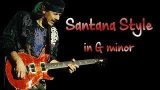 Latin Dorian Rock Santana Style Backing Track