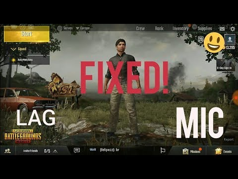 *FIXED-How to fix PUBG mobile MIC and LAG problem *FIXED- enable voice 2018