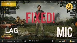 Fixed How To Fix Pubg Mobile Mic And Lag Problem Fixed Enable Voice 2018
