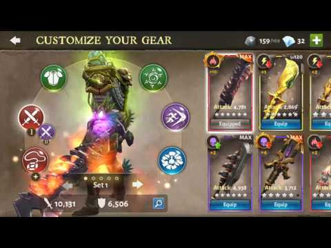 Dungeon Hunter 5 - Weapons - Gameloft DH5