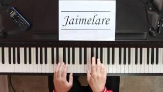 Y viva España / Eviva España (Pasodoble) - piano by Jaimelare