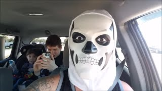 Fortnite Skull Trooper orders McDonald's Spurs Pack Drive thru