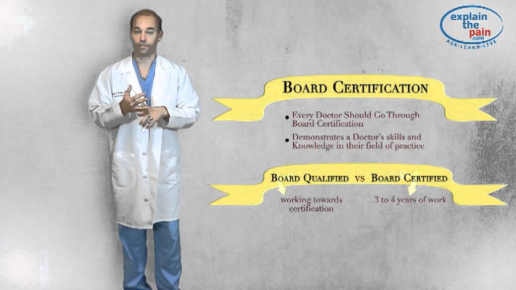 What does it mean for a Podiatrist to be Board Certified? - YouTube