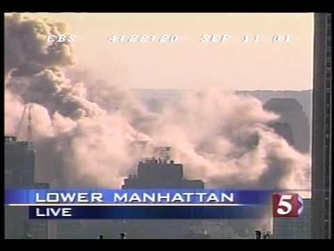 9/11/01 CBS 5 p.m. hour coverage part 3/6