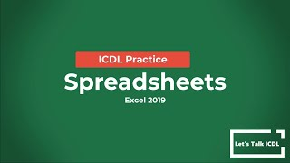 ICDL Practice - Spreadsheets (…