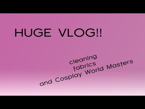 A huge vlog!! | cleaning the bedroom, sorting fabrics and being on Cosplay World Masters