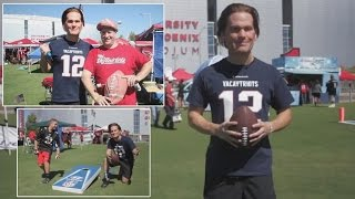 Watch Tom Brady Impersonator Trick Tailgaters Prior to Patriots Game