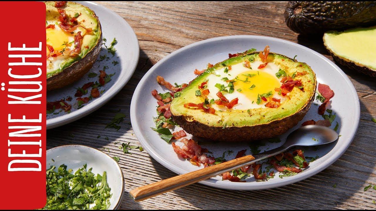 Avocado-Eier mit Speck | Osterbrunch | REWE Deine Küche - YouTube