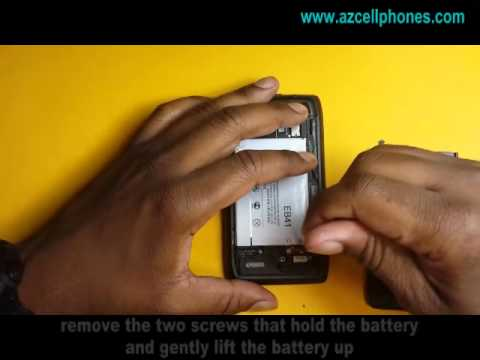 Motorola Droid 4 Repair - Back and Battery Removal
