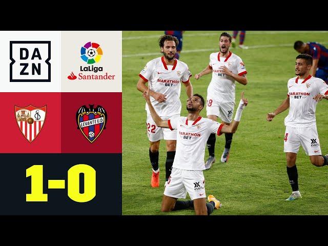 Heiße Nachspielzeit! Lopetegui fliegt - En Nesyri trifft spät: Sevilla - Levante 1:0 | LaLiga | DAZN