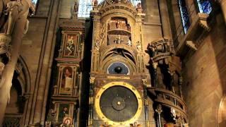 Астрономические часы, Страсбург(Астрономические часы, Страсбургский собор. Strasbourg astronomical clock, Cathédrale Notre-Dame of Strasbourg, Alsace, France., 2011-11-27T20:16:35.000Z)