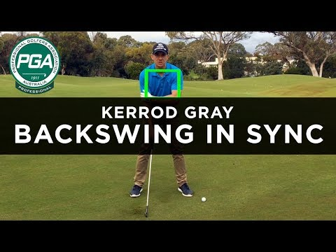 HOW TO KEEP THE BACKSWING IN SYNC | Kerrod Gray | PGA TV