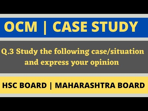 Study the following case/situation and express your opinion | HSC Board 2021 | 12th OCM new syllabus