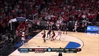 Arizona vs. Wisconsin: Sam Dekker 3-pointer