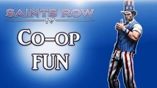Saints Row 4 Co-op Fun Ep. 3 (Random Moments, Dance off, America!)