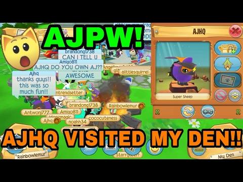 AJHQ WENT TO MY DEN! Animal Jam Play Wild