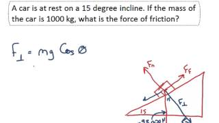 NET FORCE - IncĮined Planes Practice Problems
