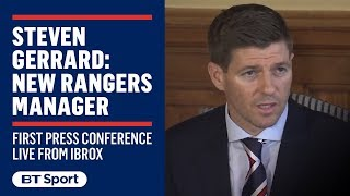 Steven Gerrard's first press conference as Rangers manager