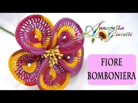 Fiori Uncinetto Youtube.Uncinetto Fiore 6 Calla Per Bomboniera 2 How To Do Flower Youtube