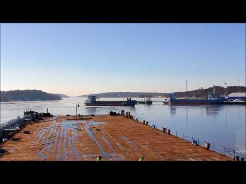Saxum arriving to Port of Turku 20.2.2018