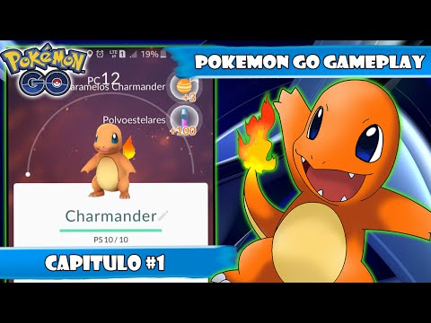★POKEMON GO GAMEPLAY #1 CAPTURAR A CHARMANDER (DESCARGAR APK)★