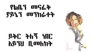 Aster Aweke - Amalaju Hulu አማላጁ ሁሉ (Amharic With Lyrics)
