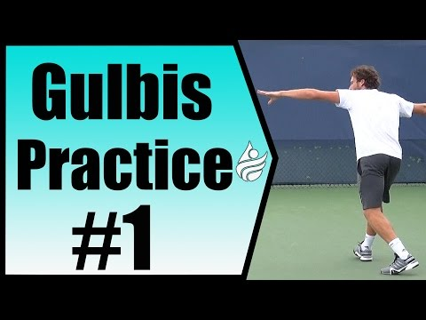 Ernests Gulbis Practice Session | Cincinnati 2014
