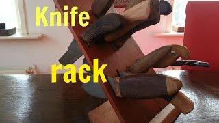Woodworking - Making A Knife Rack