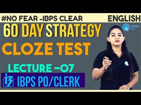 IBPS PO/CLERK | 60 Days Crash Course | Cloze Test | English | Anchal Ma'am | 10 A.M.