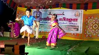 2nd std girl  P. U. M School, Vangudi.Tamil folk dance panchu mittai Annual day 2017,