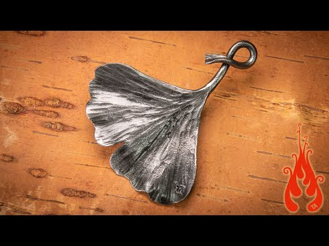 Blacksmithing - Forging a ginkgo leaf