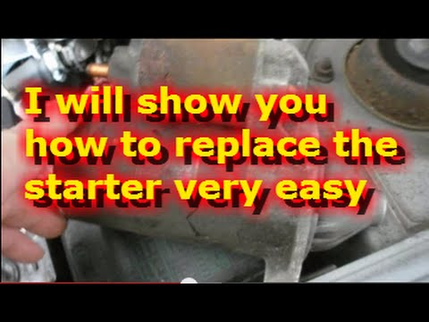 How to replace the starter on a 2002 Hyundai Accent - YouTube