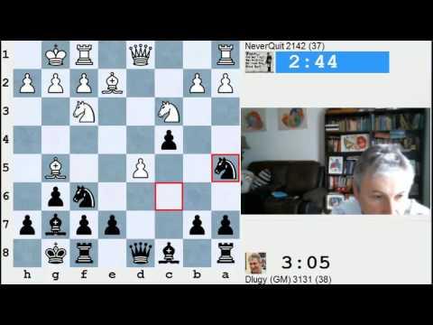 GM Max Dlugy plays Banter Blitz games on Chessclub.com - 2015-04-28