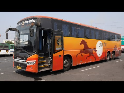 Simply Great Mumbai Pune Expressway Journey Onboard 14.5M Long M.S.R.T.C's Multi Axle Scania Bus !!!