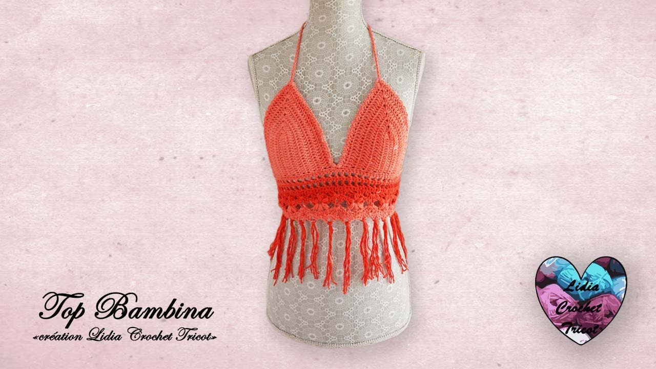 "Concours ! Top Bambina crochet facile ""Lidia Crochet Tricot"""