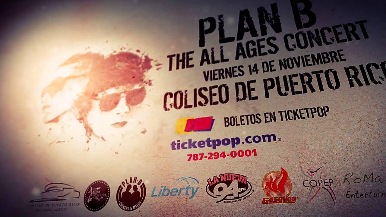Plan B - Concierto Viernes 14 de Noviembre Coliseo de Puerto Rico (Promo)